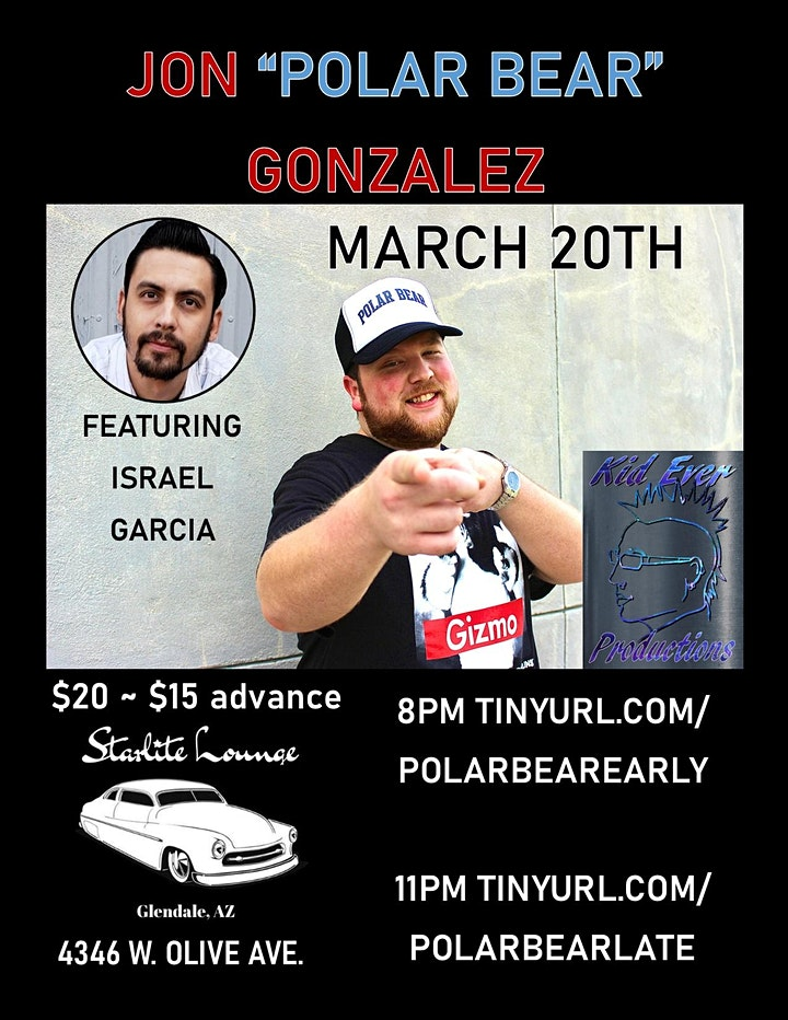 Polar Bear Comedy - Jon Gonzalez at Starlite Lounge 21+ LATE show image
