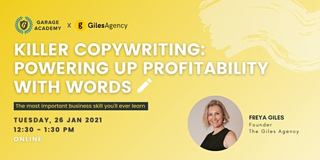 Killer Copywriting: Powering-Up Profitability with Words tickets