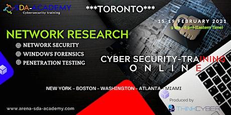 Cyber Security Training Online! *** NETWORK RESEARCH *** TORONTO 2021*** biglietti