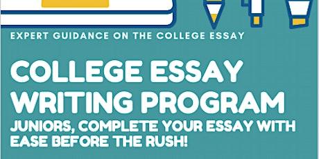 College Essay Writing Program ingressos