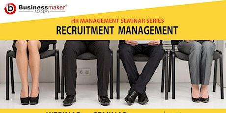 Live Webinar: Recruitment Management tickets