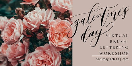 Galentine's Day Brush Lettering Workshop tickets