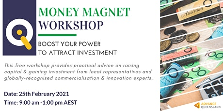 Innovate Queensland's Money Magnet Workshop — Brisbane tickets