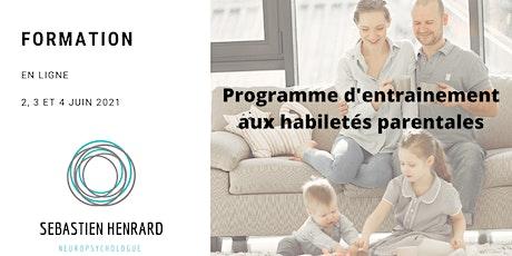 Programme d'Entrainement aux Habiletés Parentales (PEHP) billets