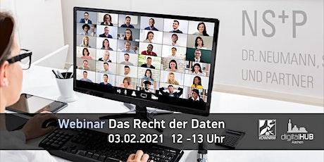 "Webinar mit Dr. Neumann, Schmeer & Partner: ""Das Recht der Daten"" Tickets"