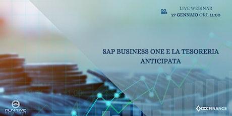 Customer Session | SAP Business One e la tesoreria anticipata biglietti