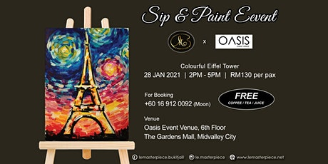 Sip and Paint: Colourful Eiffel Tower (Thursday) tickets