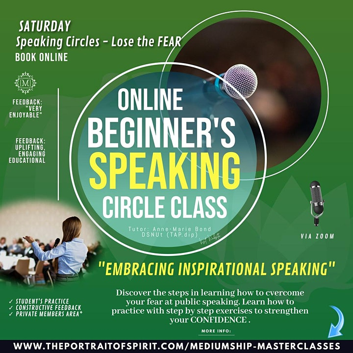 Speaking Publicly Circle for Spiritualists in Mediumship, Philosophy image