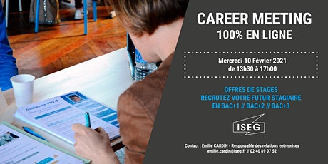 CAREER MEETING ISEG NANTES - 100 % EN LIGNE billets
