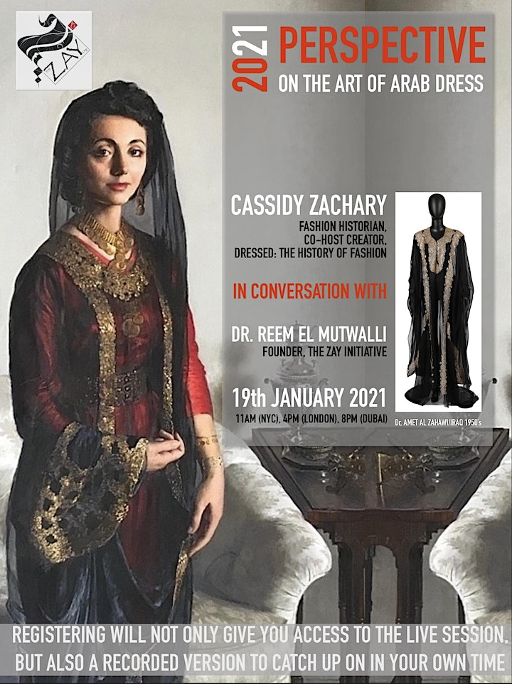 DIALOGUES ON THE ART OF ARAB FASHION: 2021 PERSPECTIVE ON ART OF ARAB DRESS image