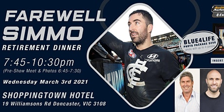 """Farewell Simmo Retirement Dinner"" & live show at Shoppingtown Hotel! tickets"
