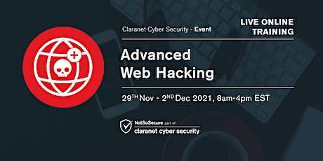 Advanced Web Hacking - Live Online Training bilhetes