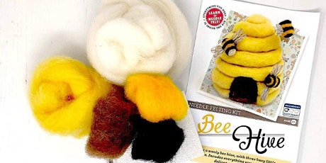 NEEDLE FELT A BEEHIVE WITH THE CRAFTY KIT COMPANY - FREE tickets