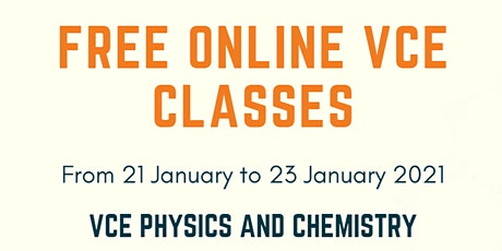 VCE Chemistry tutoring (online) tickets
