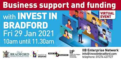 Business support and funding with Invest in Bradford tickets