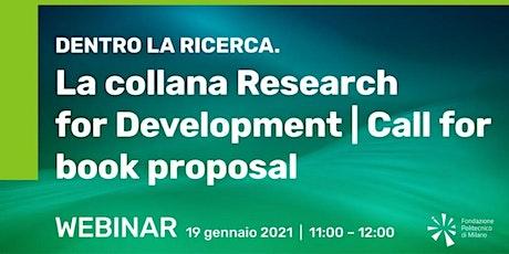 Dentro la ricerca. La collana Research for Development biglietti