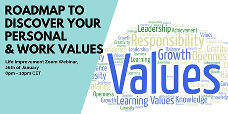 Roadmap to Discover your Personal & Work Values - Online Growth Event tickets