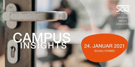 Campus Insights / Game Art & 3D Animation und Audio Engineering Tickets
