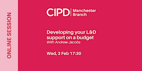 Developing your L&D support on a budget tickets