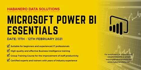 Microsoft Power BI Essentials for Beginners - February 2021 tickets