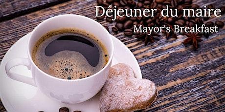 Déjeuner du maire - 16 janvier 2021 / Mayor's breakfast January 16, 2021 billets