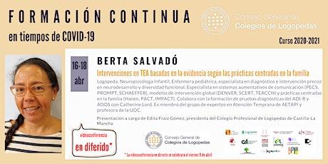 En diferido: Videoconferencia a cargo de Berta Salvadó boletos