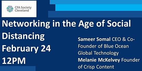 Networking in the Age of Social Distancing, Sameer Somal & Melanie McKelvey tickets