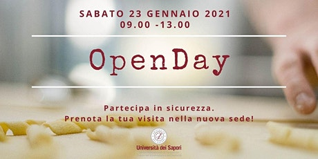 OPENDAY 23 GENNAIO 2021 - Università dei Sapori biglietti