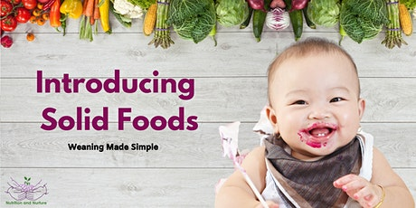 Introducing Solids to your Baby tickets