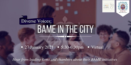 Diverse Voices: BAME in the City tickets