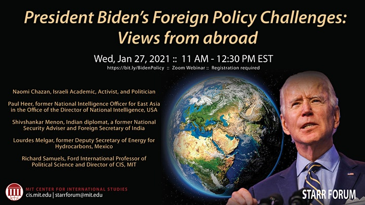 Starr Forum: President Biden's Foreign Policy Challenges: Views From Abroad image