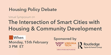 The Intersection of Smart Cities with Housing and Community Development  tickets
