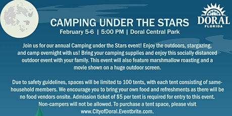 Camping under the Stars tickets