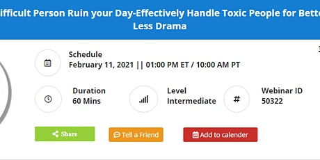 How to Handle Toxic People for Better Productivity and Less Drama tickets