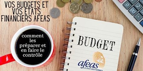 Budgets et états financiers Afeas : les préparer et en faire le contrôle billets