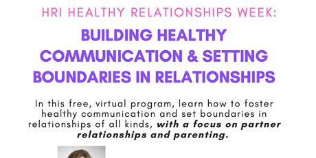 Maintaining Healthy Boundaries and Communication in Relationships tickets