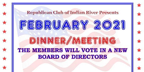 February 2021 Dinner/Meeting Board Election tickets