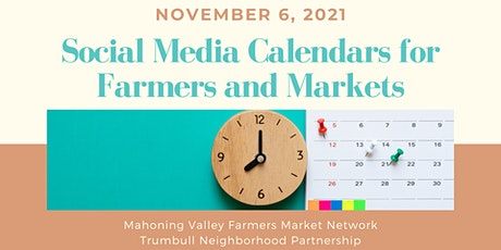 Social Media Calendars for Farmers and Markets tickets
