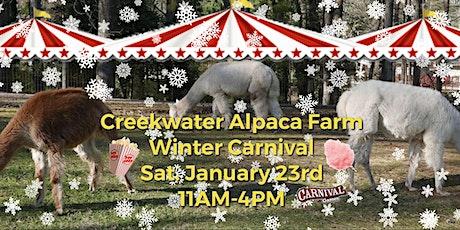 Creekwater Alpaca Farm Winter Carnival tickets