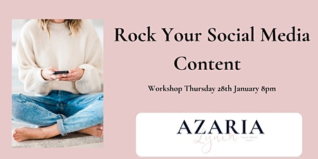 Rock Your Social Media Content Workshop tickets