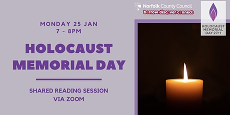 Holocaust Memorial Day 2021: Shared Reading Session tickets