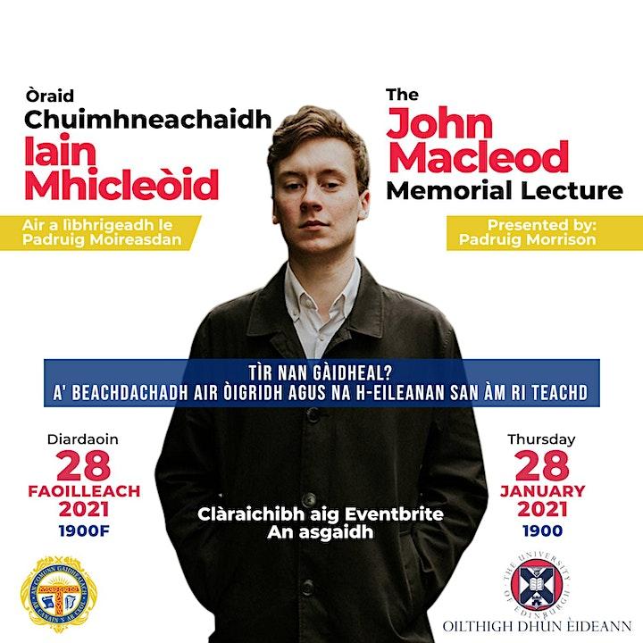 Òraid Chuimhneachaidh Iain MhicLeòid image
