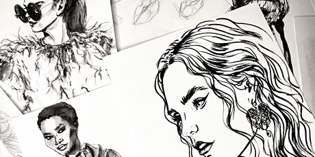 Portrait Drawing & Illustration - Live Art Lesson with Rebecca Feneley tickets