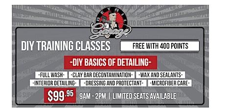 Basics of Detailing - DIY Class tickets