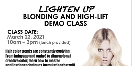 Lanza Blonding and Highlift Demo Class tickets