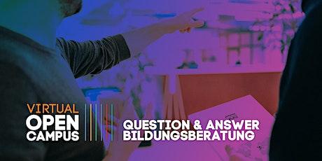 Question & Answer: Bildungsberatung Tickets
