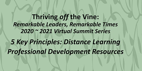 5 Key Principles: Distance Learning Professional Development Resources tickets