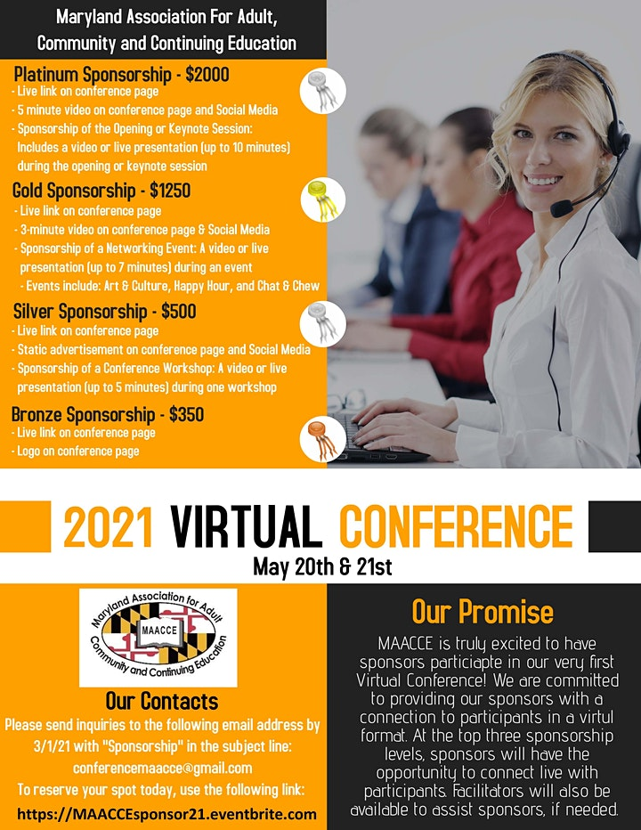 MAACCE 2021 Virtual Conference Sponsorship image