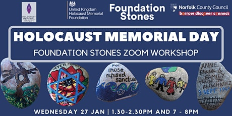 Holocaust Memorial Day 2021: Foundation Stones Workshops tickets
