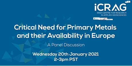Critical Need for Primary Metals and their Availabilty in Europe tickets